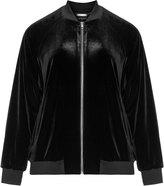 Manon Baptiste Plus Size Velvet bomber jacket