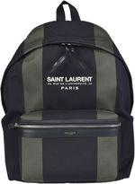 Saint Laurent Striped Backpack