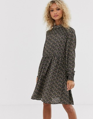 JDY Nikky printed smock dress-Green