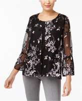 JM Collection Layered-Look Illusion Top, Created for Macy's