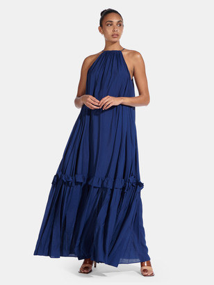 STAUD Ina Organza Maxi Dress
