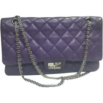 Chanel 2.55 Purple Leather Handbags