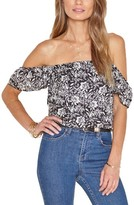 Amuse Society Women's Mariposa Off The Shoulder Woven Top