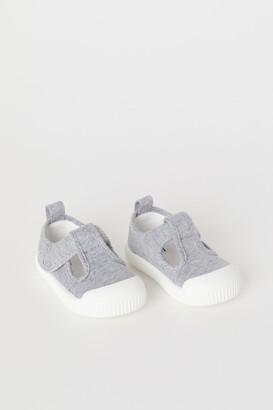 H&M Cotton Canvas Sandals - Gray