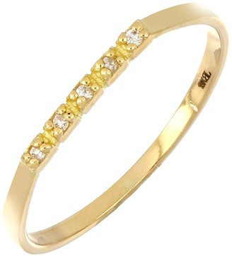 Bony Levy 18K Yellow Gold Diamond Petite Bar Band Ring