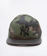 New Era Camo NY Yankees Leather Snake Visor Snapback Cap