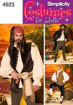Simplicity Sewing Pattern 4923 Men Costumes, BB (Large - X-Large)
