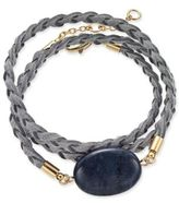 INC International Concepts Gold-Tone Semi-Precious Stone Braided Wrap Bracelet, Only at Macy's