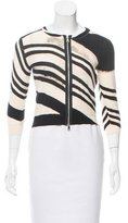 Tracy Reese Printed Zip-Up Cardigan w/ Tags