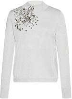 DELPOZO Sequin-Embroidered Mock Neck Top