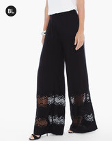 Chico's Lace Insert Wide-Leg Pants