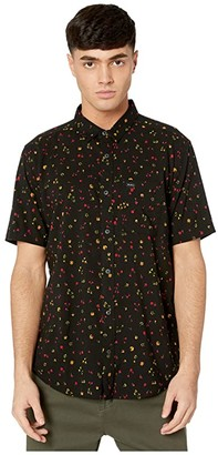 RVCA Calico Short Sleeve (Black) Men's Clothing