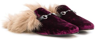 Gallucci Kids Velvet-Effect Slippers