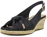 Bella Vita Seraphinaii W Open Toe Canvas Wedge Sandal.