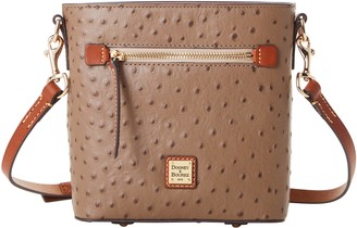 Dooney & Bourke Ostrich Small Zip Crossbody