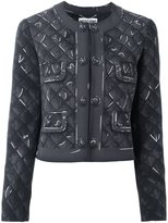 Moschino trompe-l'œil print jacket - women - Polyester/Triacetate - 48