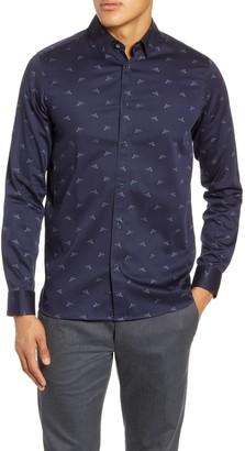 Ted Baker Skeep Slim Fit Bird Print Button-Up Shirt