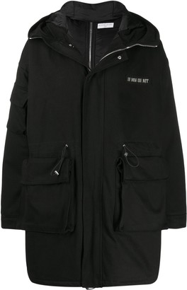 Ih Nom Uh Nit Mid-Length Logo Coat