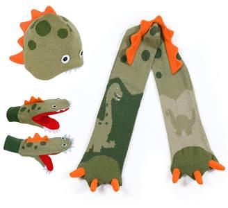 Kidorable Little and Big Boy Dinosaur Knitwear Set
