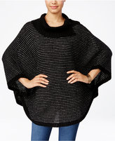 Amy Byer Juniors' Cowl-Neck Poncho Sweater
