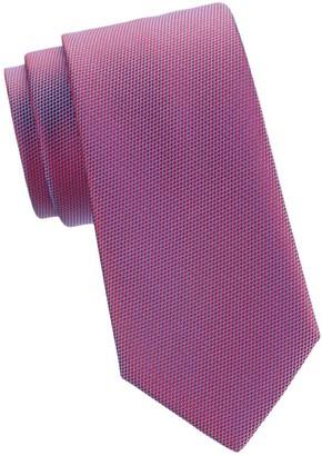 Charvet Geometric Basket Weave Silk Tie