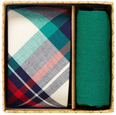 Original Penguin Shawlee Plaid Tie & Pocket Square 2-Piece Set