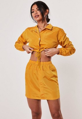 Missguided Yellow Co Ord Shell Mini Skirt