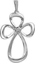 Jessica Simpson 0.02 carat total weight White Diamond Cross Pendant in Sterling Silver