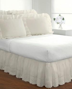 Levinsohn Textiles Fresh Ideas Ruffled Eyelet California King Bed Skirt Bedding