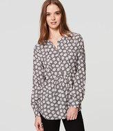 LOFT Petite Sketched Bloom Bib Shirt