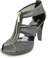 MICHAEL Michael Kors Berkley T Strap Women US 11 Black Peep Toe Heels