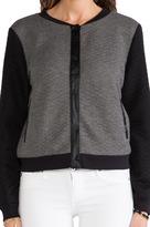 Sanctuary Quilted Soft Varsity Jacket