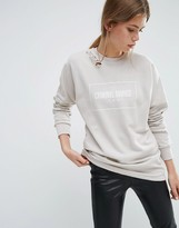 Criminal Damage Ripped Shoulder Sweatshirt