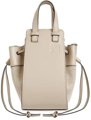 Loewe Mini Hammock Canvas & Leather Bag