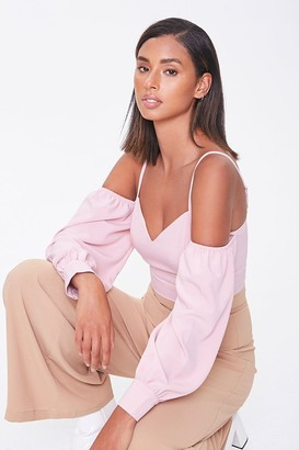 Forever 21 Open-Shoulder Sweetheart Top