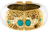 Alexis Bittar Lucite & Turquoise Hinge Bracelet