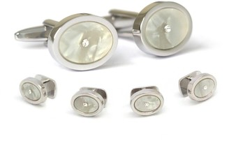 Hart Schaffner Marx Rhodium Plated Formal Cuff Link Set