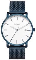 Skagen Skw6326 Hagen Date Bracelet Strap Watch, Navy/white