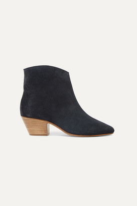 Isabel Marant Dacken Suede Ankle Boots - Black