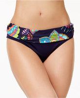 Anne Cole Cactus Floral-Print Foldover Bikini Bottoms