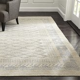 Crate & Barrel Rosalie Neutral Hand Knotted Oriental Rug