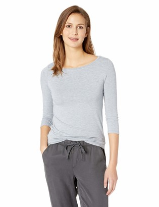 Majestic Filatures Women's Soft Touch 3/4 Boatneck