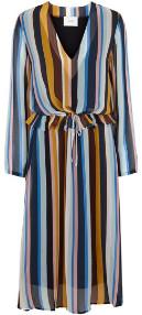Just Female Romain Dress - XS - Blue/Brown/Yellow