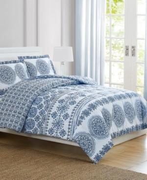 Pem America Blue Medallion King 3-Pc. Comforter Set Bedding