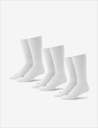 Tommy John Men's Go Anywhere Sock 3 Pack, White