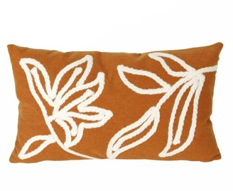 "Liora Manné Visions I Windsor Indoor/Outdoor Pillow Orange 12""X20"""