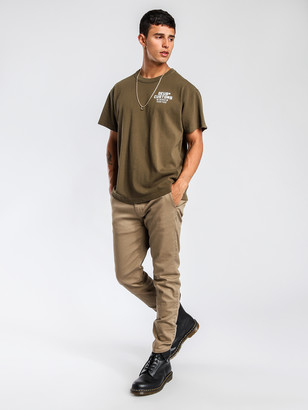 Abrand A Dropped Slim Chino Pants in Sand