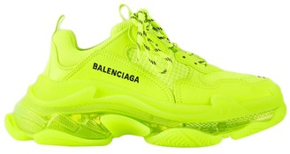 Balenciaga Fluorescent Yellow Triple S Sneakers