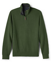 Lands' End Men's Big and Tall Bedford Rib Half-zip Mock Pullover-Yellow Daisy
