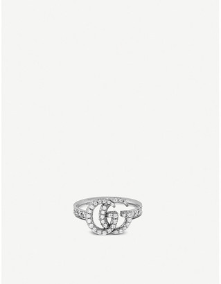 Gucci GG Running 18ct white-gold and diamonds ring